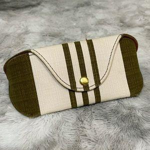 Madewell Olive Green/Beige Sunglasses Case